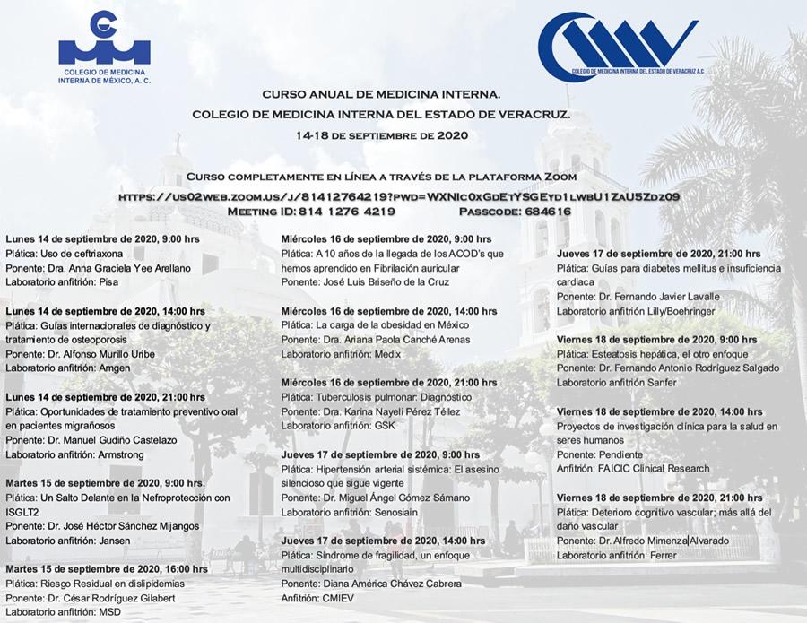 V Curso anual de Medicina Interna, Veracruz